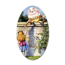 Humpty Dumpty and Alice in W Wall Decal