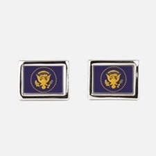 Gold Presidential Seal, VIP, Rectangular Cufflinks