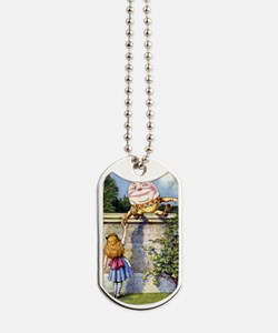 Humpty Dumpty and Alice in Wonderland Dog Tags