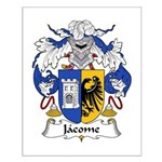 Jacome Family Crest Small Poster