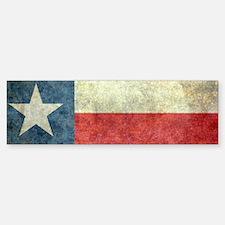 Texas state flag vintage version Bumper Bumper Bumper Sticker
