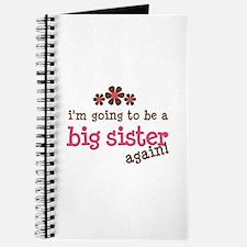 big sister pink brown flower Journal