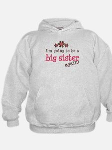 big sister pink brown flower Hoodie