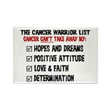 The Cancer Warrior List Rectangle Magnet