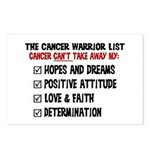 The Cancer Warrior List Postcards (Package of 8)