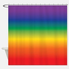 Cute Red orange and blue Shower Curtain