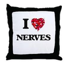 I Love Nerves Throw Pillow