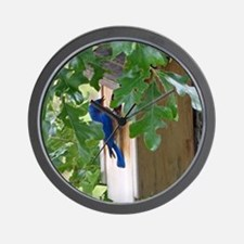 Birdbird at Birdhouse Wall Clock