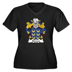 Homen Family Crest Women's Plus Size V-Neck Dark T