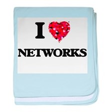 I Love Networks baby blanket
