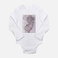 Vintage Map of New Jersey (1884) Body Suit