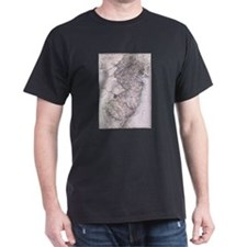 Vintage Map of New Jersey (1884) T-Shirt