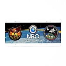 NRO Logo Aluminum License Plate