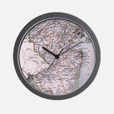 Vintage Map of New Jersey (1884) Wall Clock