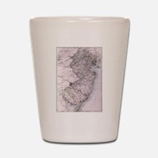 Vintage Map of New Jersey (1884) Shot Glass