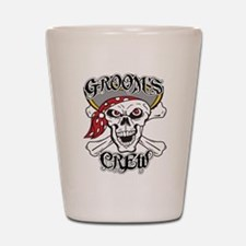 Groom's Pirate Crew Shot Glass