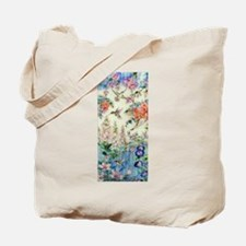 Hummingbirds and Flowers Tote Bag