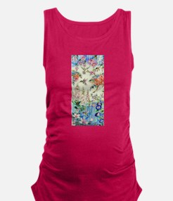 Hummingbirds and Flowers Maternity Tank Top