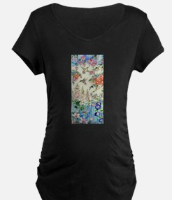 Hummingbirds and Flowers Maternity T-Shirt
