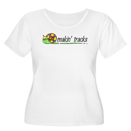 Makin' Tracks Women's Plus Size Scoop Neck T-Shirt