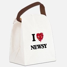 I Love Newsy Canvas Lunch Bag