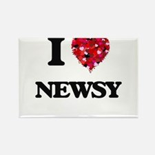 I Love Newsy Magnets