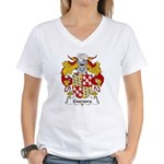 Guevara Family Crest Women's V-Neck T-Shirt