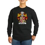 Guevara Family Crest Long Sleeve Dark T-Shirt