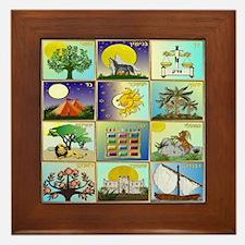 12 Tribes Of Israel Framed Tile