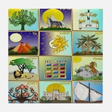 12 Tribes Of Israel Tile Coaster