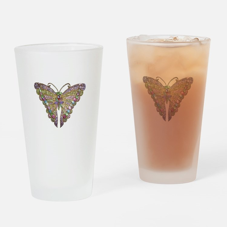 Colorful_butterfly_78_trans.png Drinking Glass