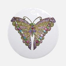 Colorful_butterfly_78_trans.png Ornament (Round)