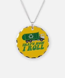 Recycling Truck Necklace