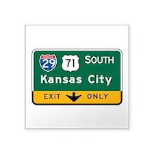 """Unique State missouri Square Sticker 3"""" x 3"""""""