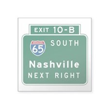 "Funny Tennessee Square Sticker 3"" x 3"""