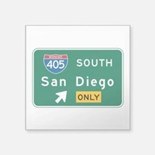 "Cute 405 Square Sticker 3"" x 3"""