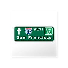 """Unique San francisco city Square Sticker 3"""" x 3"""""""