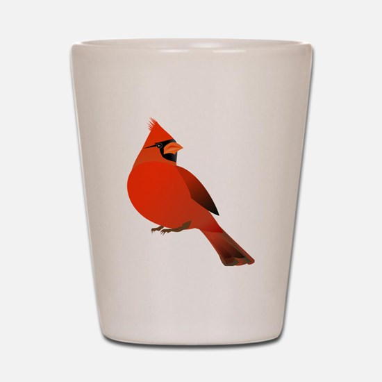 Red Cardinal Shot Glass