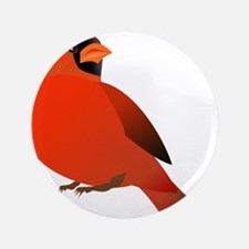 """Red Cardinal 3.5"""" Button (100 pack)"""