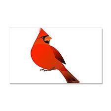 Red Cardinal Car Magnet 20 x 12