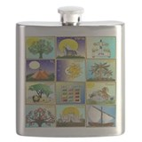 12 tribes of israel Flask Bottles