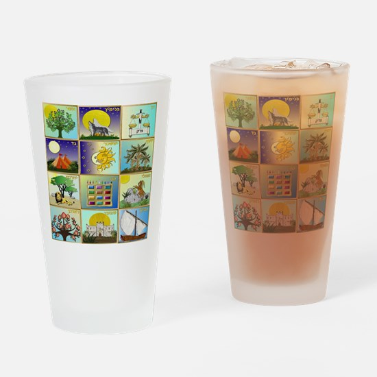 12 Tribes Of Israel Drinking Glass