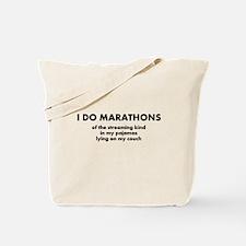 Cute Marathon runner Tote Bag