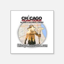 "13-Monsters/Chicago Music G Square Sticker 3"" x 3"""
