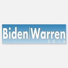 Biden Warren 2016 Bumper Bumper Sticker