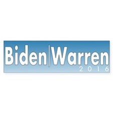 Biden Warren 2016 Bumper Sticker