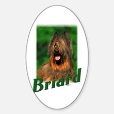 Briard-2 Oval Decal