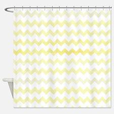 Yellow Watercolor Chevron Zigzag Pa Shower Curtain