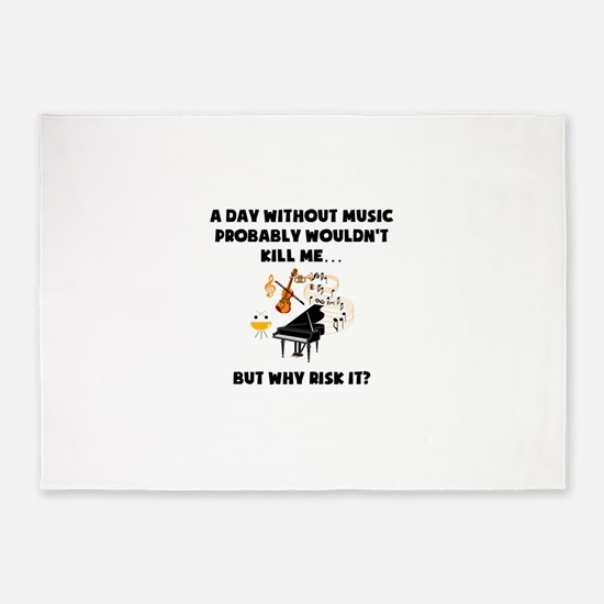 A Day Without Music 5'x7'Area Rug