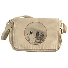 Brown Condor & Lion of Judah on Ethi Messenger Bag